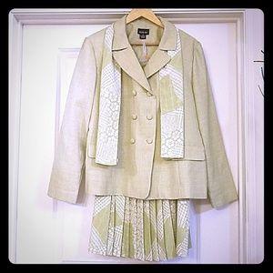 Leslie Fay Green Vintage 2 Piece Suit